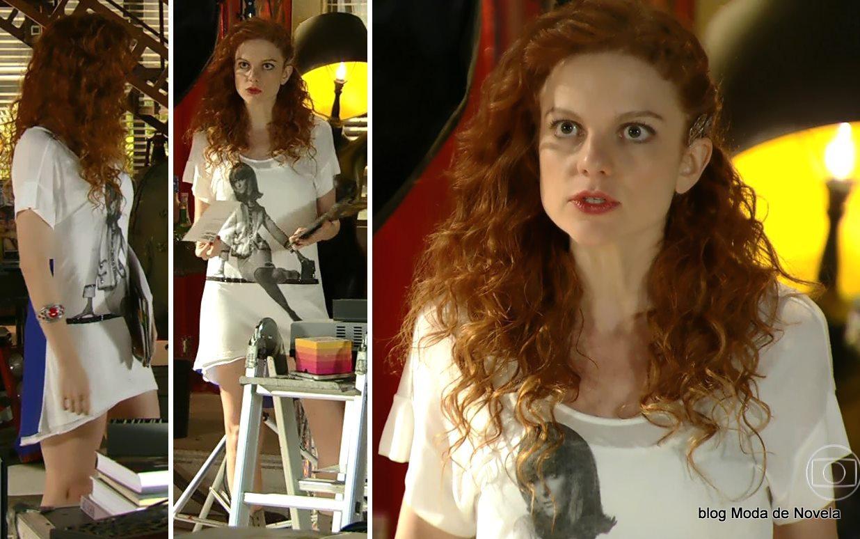 moda da novela Em Família - look da Vanessa dia 2 de maio