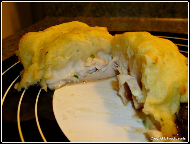 Garlic and Chive Mashed Potato Crusted Fish