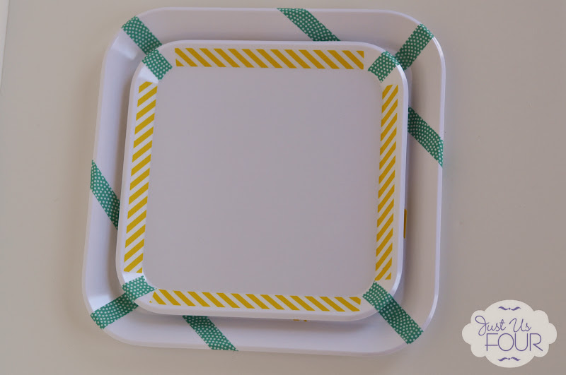 washi tape trays and plates