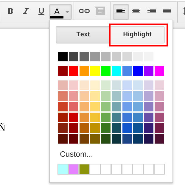 Select Text Color