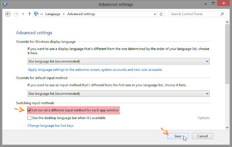 กำหนดให้ Windows 8 จดจำภาษาที่ใช้งานในแต่ละโปรแกรม Autolang04