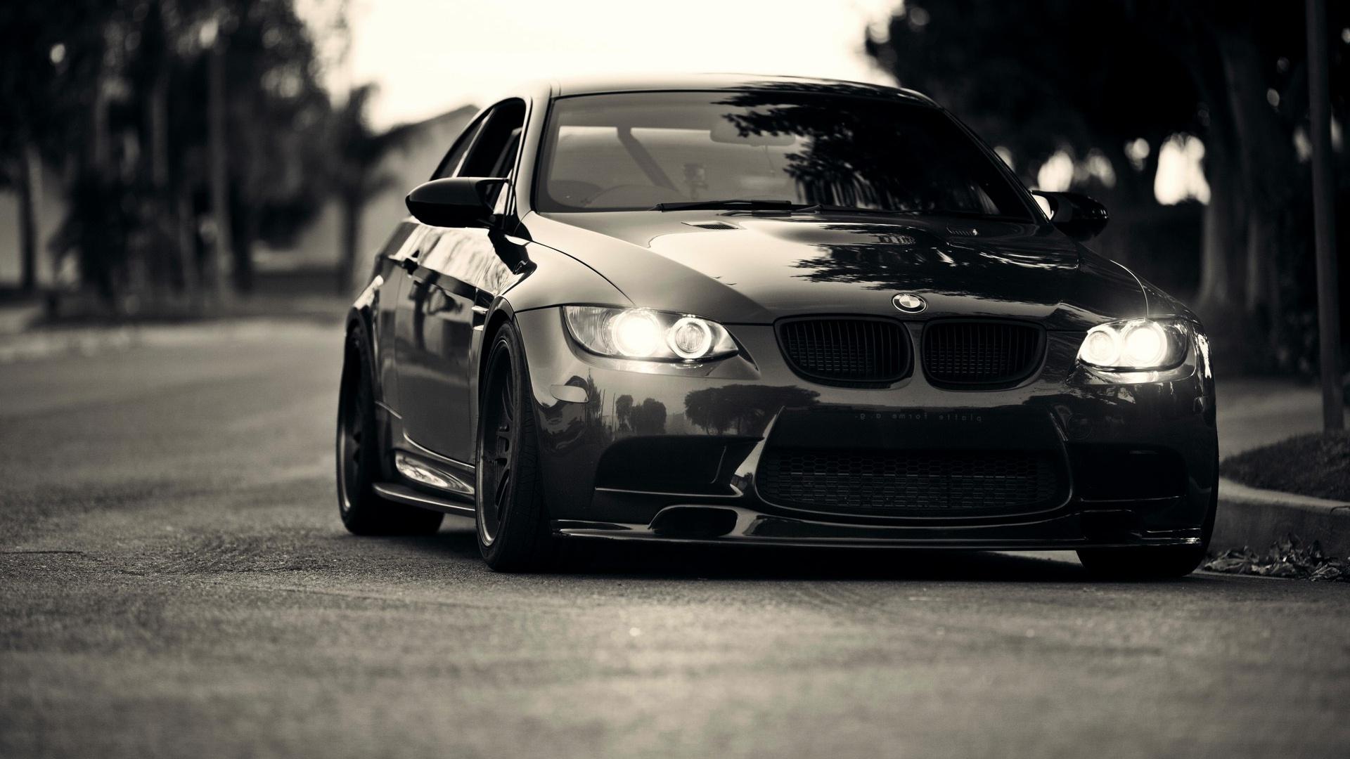 Black BMW Front View