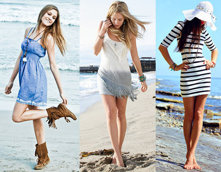 Looks de praia com vestidos