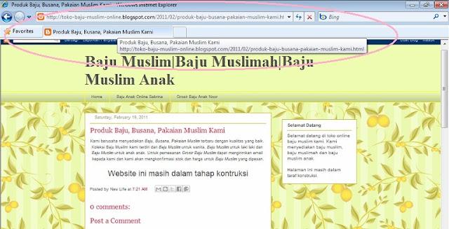 Menghilangkan/menghapus Judul Blog pada Judul Posting di Blogger/Blogspot
