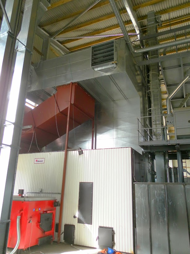 Biomass drier side