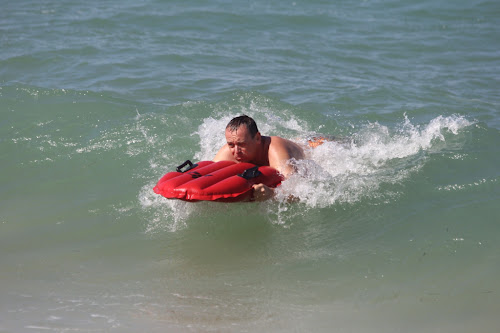ActionDad in the waves