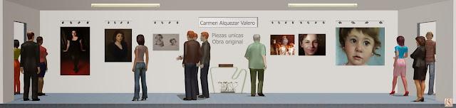 Sala de exposición virtual de pinturas de Carmen Alquezar Valero