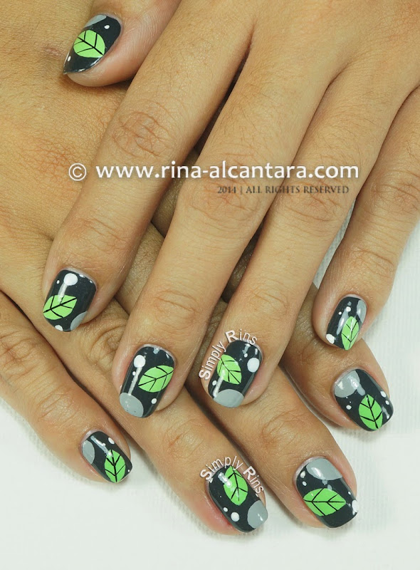 A Leaf Per Nail Nail Art Design by Simply Rins