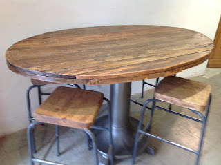Restored table and stools