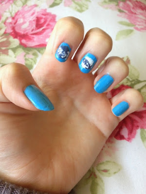 The Fault in Our Stars inspired nail art