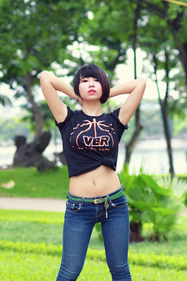 Thí sinh Miss Bóng Rổ khoe sắc tại công viên 4
