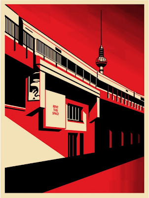 "Obey Giant ""Berlin Tower"" Screen Print by Shepard Fairey"