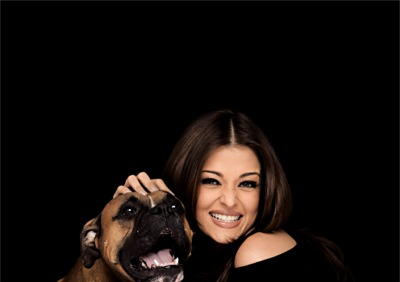 Aishwarya Rai and her dog