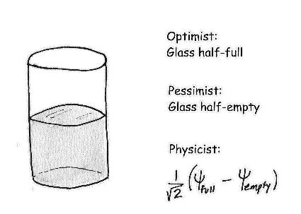Классическое определение отличий между оптимистом и пессимистом, дополненное до полноты особым мнениес физика...