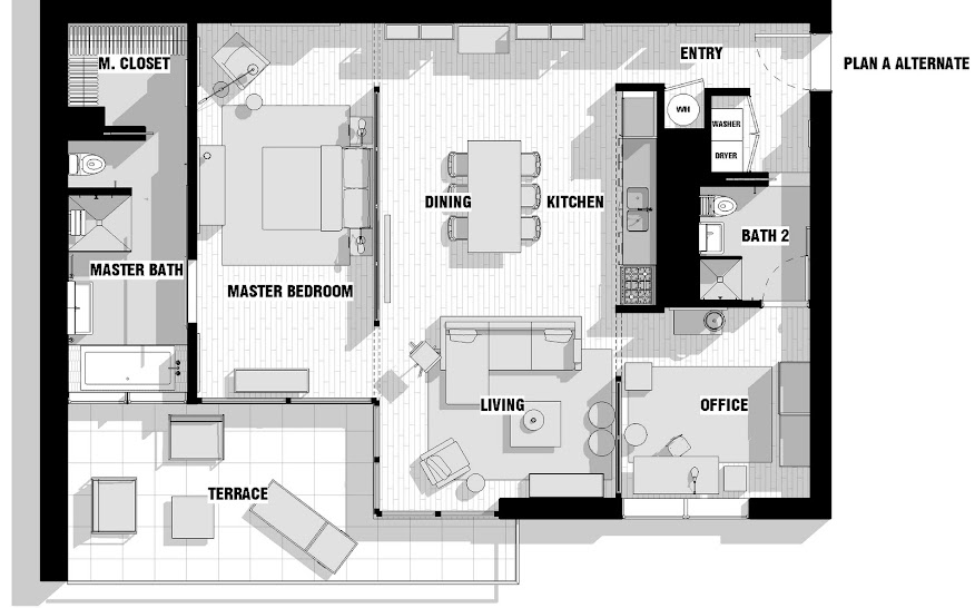 incorporated architecture design benroth rolston stuart Gallery Lofts His Apartment.jpg