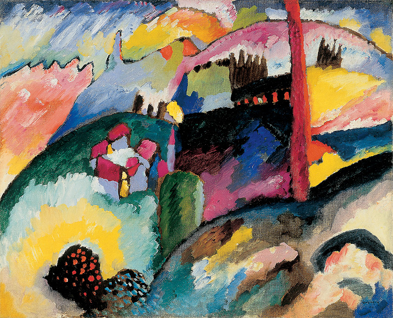 Wassily Kandinsky – Landscape with factory chimney, 1910