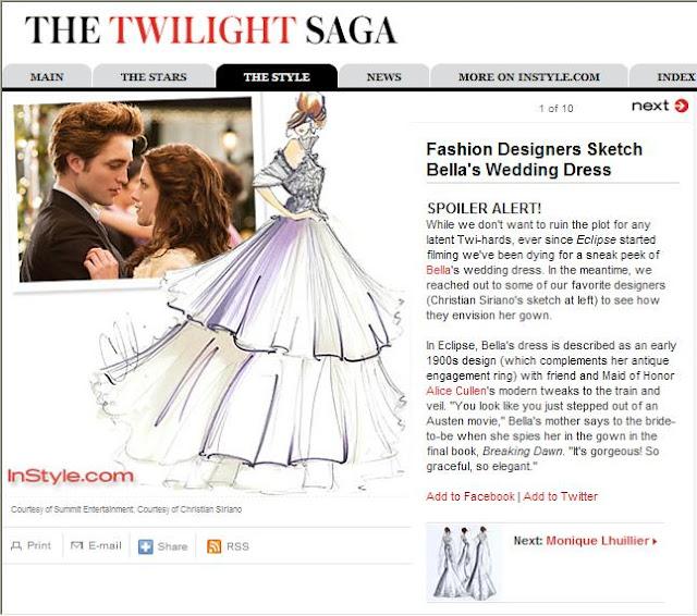 Twilight saga Breaking Dawn Wedding Dress