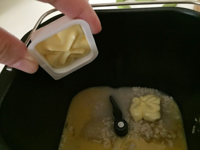 how to add softened butter bread machine