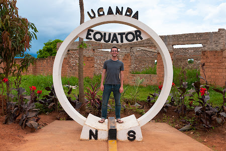Standing on the Equator, Nabusanke, Uganda