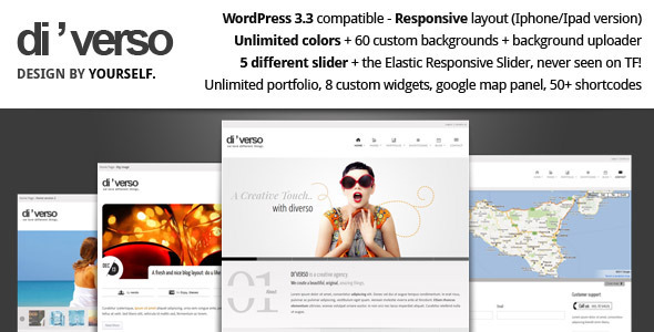 Themeforest Di'verso - A Flexible WordPress Theme v1.1