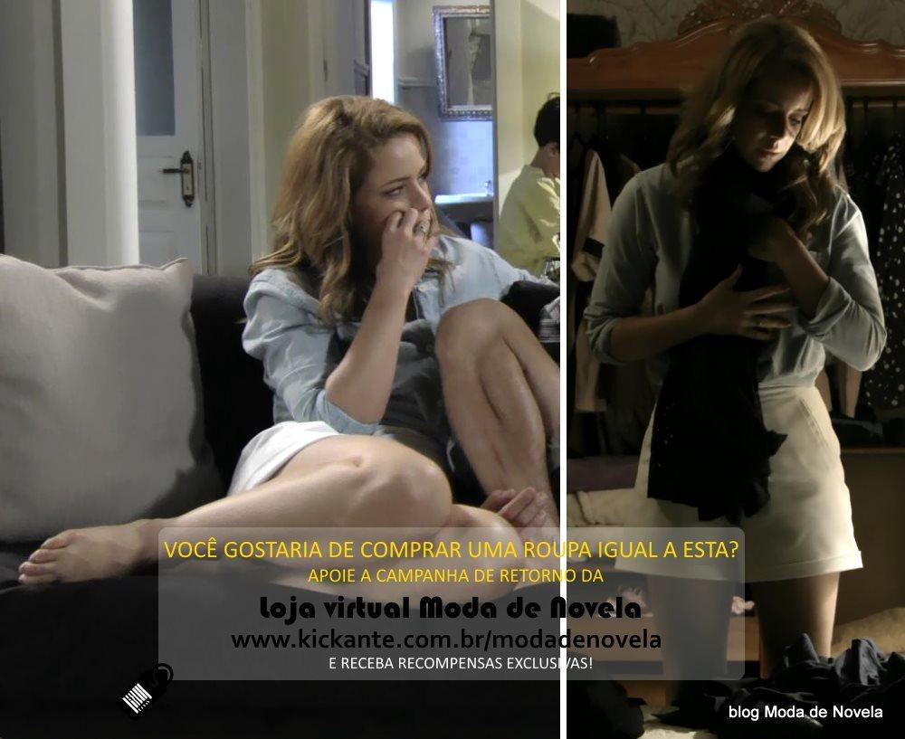 moda da novela Império, look da Cristina dia 22 de fevereiro de 2015