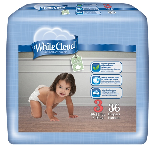 Wall-Mart White Cloud Diapers