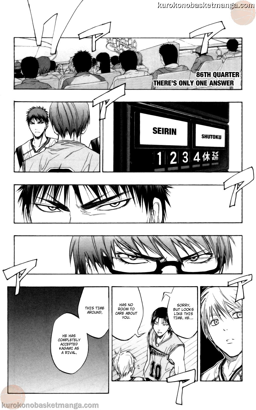 Kuroko no Basket Manga Chapter 86 - Image 01
