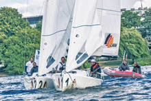 J/70 match race in Hamburg, Germany