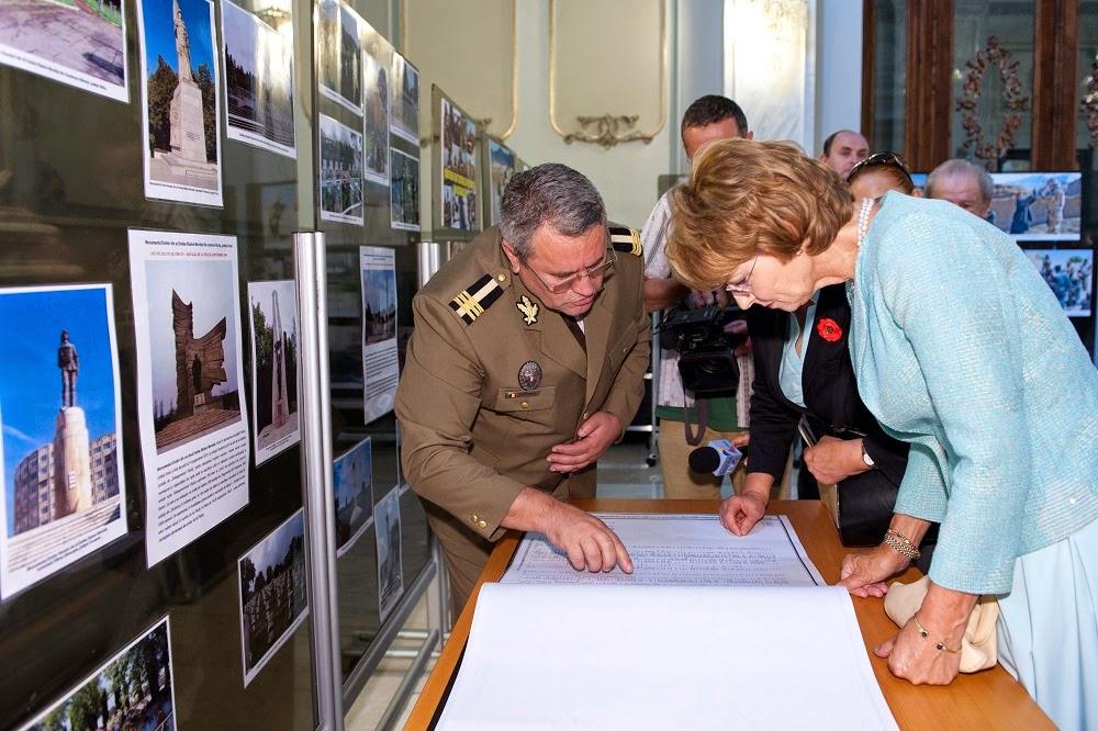 Principesa Margareta, la expoziția 70 de ani de la luptele de eliberare a teritoriului național, la Senatul României