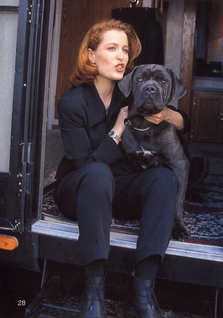 Gillian Anderson and her dog Cleo