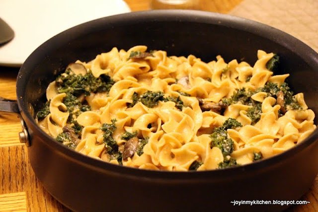This mushroom & kale stroganoff is fantastic. Kale, unlike spinach ...