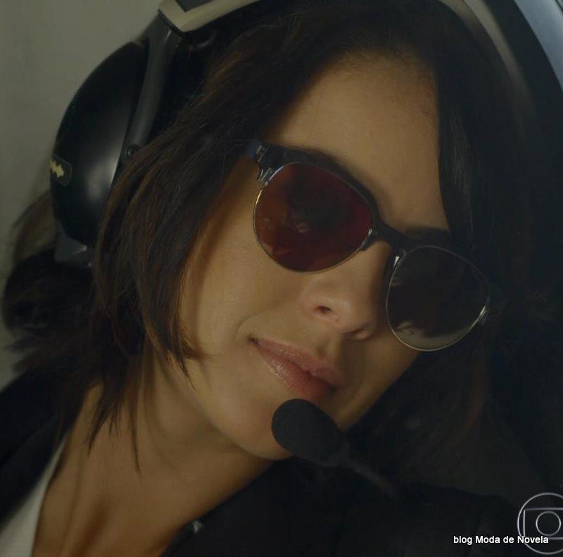 moda da novela Império - óculos da Maria Clara dia 25 de julho