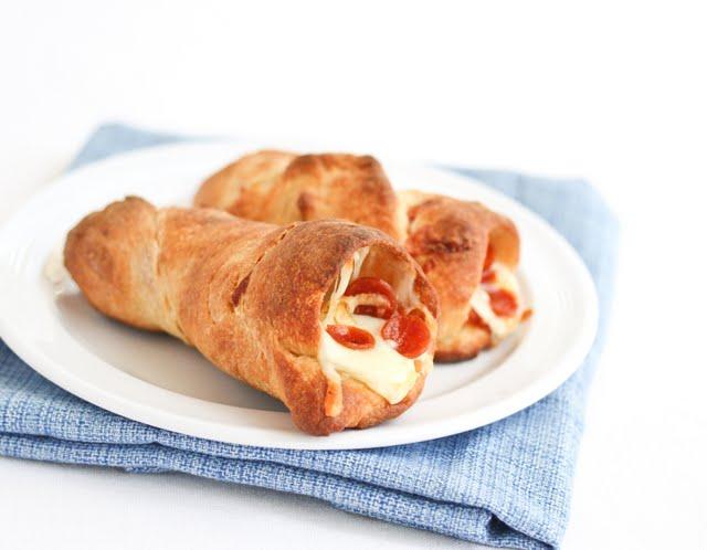 Pepperoni Pizza Cones