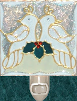 pair of white holiday doves