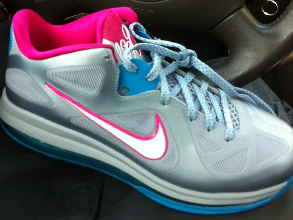 First Look Nike LeBron 9 Low 8220Silver  Pink  Blue8221