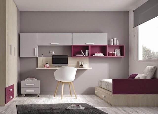Dormitorios juveniles de dise o for Distribucion habitacion juvenil