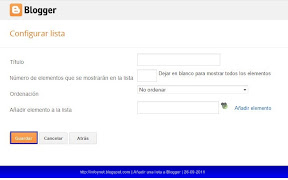 blogger-configurar-lista