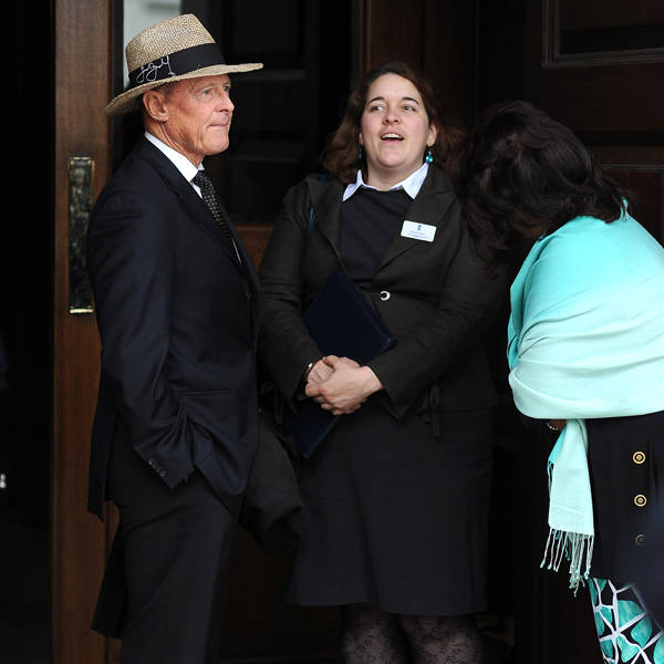 Former England batsman Geoffrey Boycott attends the memorial Service for former England cricketer and sports presenter Tony Greig, in London, on June 24, 2013. Greig passed away after losing his battle with lung cancer on December 29, 2012.