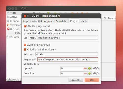 uGet1.10 - preferenze