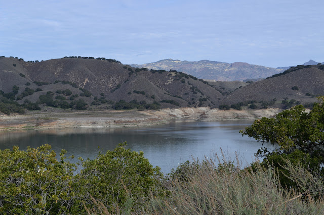Cachuma Lake sitting well below the high water line