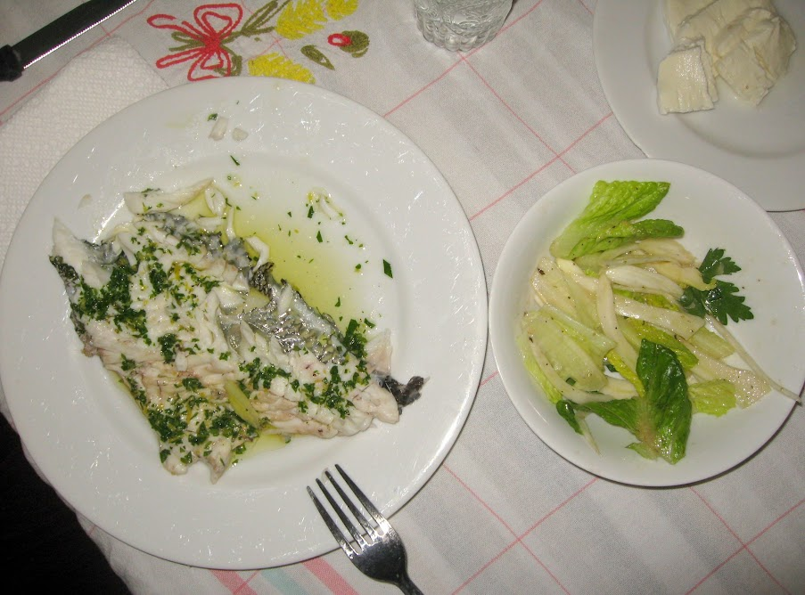 Sea Bass with Romaine and Fennel Salad