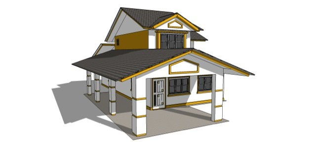 wonderful simple house design with second floor - Simple House Design With Second Floor