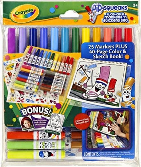 Bộ bút lông mini 25 màu kèm sách và sticker giúp bé phát huy sự sáng tạo