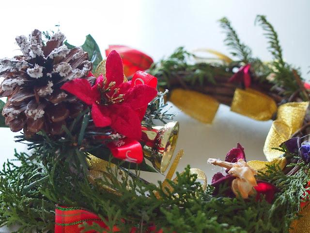クリスマス 手作りリース