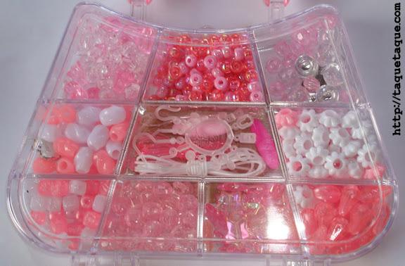 set de abalorios hello kitty manualidades niñas pulseras
