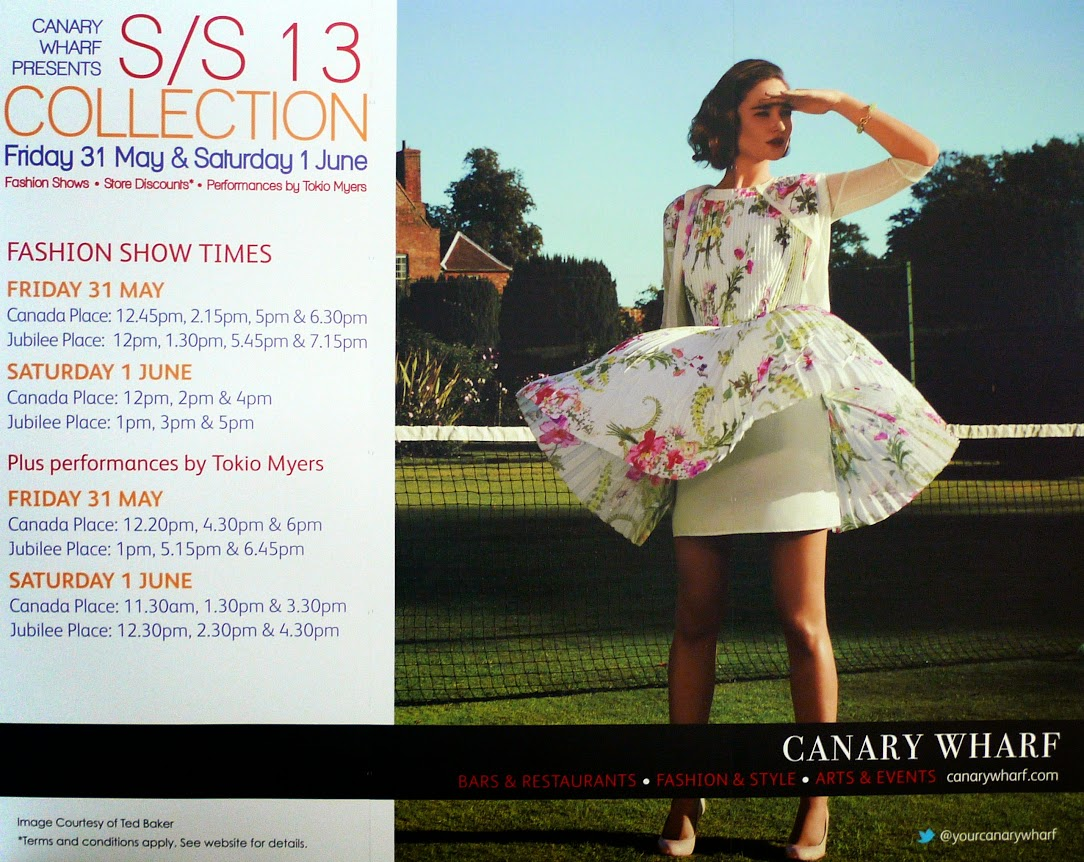 Canary Whart Fashion Show Notice