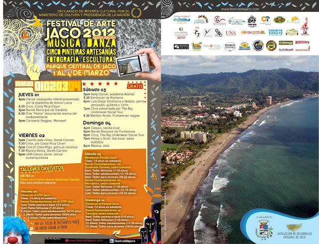 Programación 5° Festival de Arte Jacó 2012