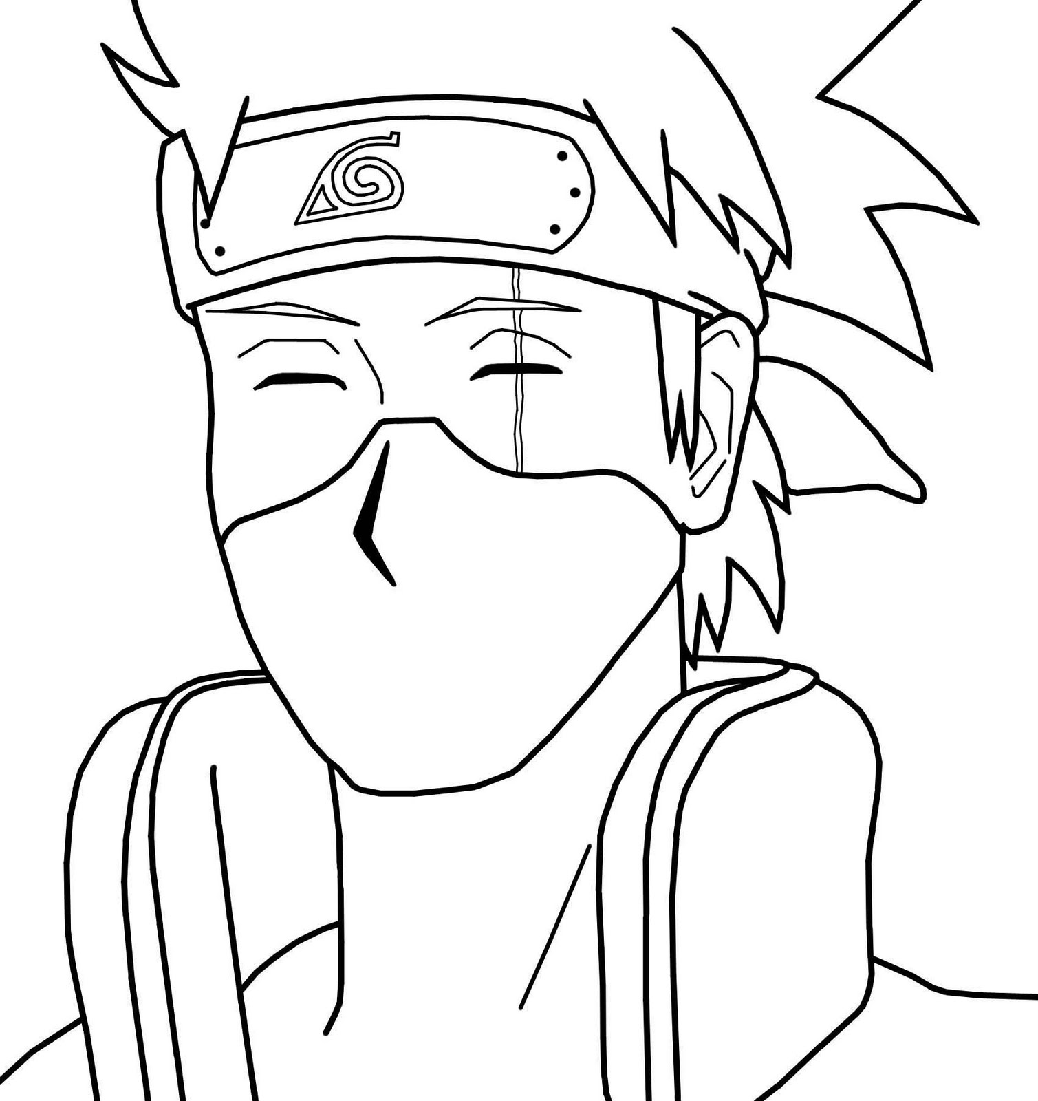 Free Printable to Print Kakashi Hatake Coloring Pages
