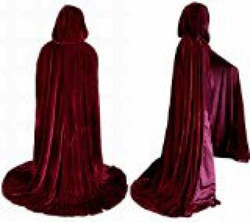 Witch Cloak Velvet Burgundy Wine 62 Inches Length