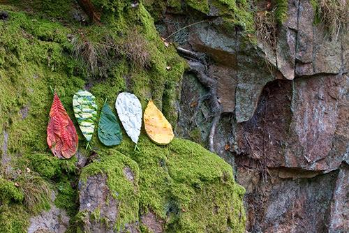 5 Colour Drops (Richard Schilling Land Art)